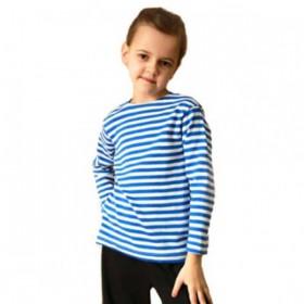 Тельняшка детская с голубой полосой, х/б